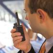 Přenosná DMR vysílačka Motorola MOTOTRBO™ DP3441e UHF, BT, GPS, WiFi - model MDH69RDC9RA1AN - při provozu