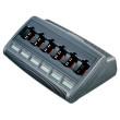 WPLN4220 Stolní 6 pozicový displejový inteligentní nabíječ IMPRES pro radiostanice Motorola Dp - boční pohled