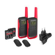 Motorola TALKABOUT T62 PMR446, Red Twin Pack WE - vysílačky pro hobby použití - obsah setu