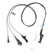 PMLN6123 Sluchátko do ucha s zvukovodem, samostatný mikrofon a PTT pro Motorola DP4000 a DP3000