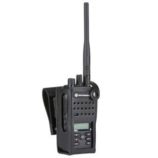 """PMLN5867 Pouzdro z tvrdé kůže pro radiostanici DP2600e nebo DP2600 na 2.5"""" opasek"""
