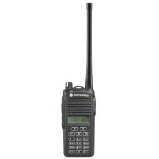 Motorola P185 VHF, vysílačka (radiostanice) pro profesionální použití, čelní pohled