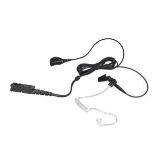 PMLN7269 Sluchátko do ucha se zvukovodem, mikrofon/PTT - pro radiostanice Motorola DP2400, DP2600, DP3441e, DP3661E ...