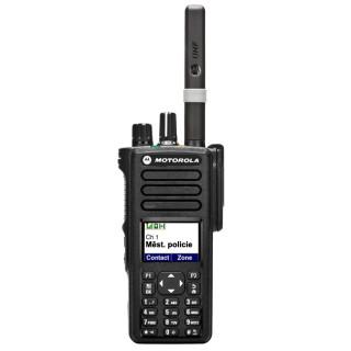 radiostanice Motorola DP 4801 UHF, GPS, BT - čelní pohled