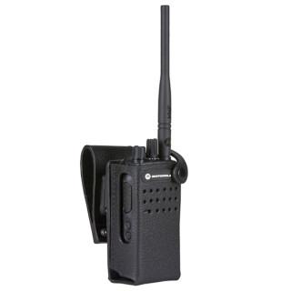 """PMLN5866 Pouzdro z tvrdé kůže pro radiostanice DP2400e nebo DP2400 na 3"""" opasek"""